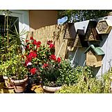 Garten, Balkon, Topfpflanzen, Terrasse, Nisthilfe, Insektenhotel