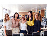 Team, Girl Power, Open Plan Office, Group Picture