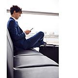 Businessman, Business, Airport