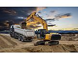 Industry, Construction Site, Excavator, Construction, Pit