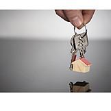 Hausbau, Haustürschlüssel, Wohnungsschlüssel