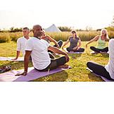 Yoga, Dehnübung, Outdoor