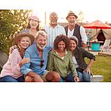 Freunde, Camping, Gruppenbild