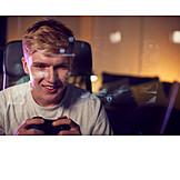 Teenager, Playing, Gambling, Video Game