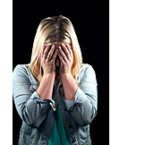 Woman, Sad, Unhappy, Mental Health