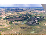 Luftaufnahme, Botswana