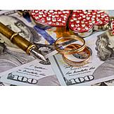Finanzen, Ehevertrag, Eheschließung
