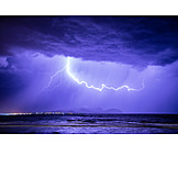 Thunderstorm, Sea, Lightning