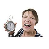 Seniorin, Wecker, Alarm, Fünf Vor Zwölf