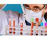 Forschung, Labor, Blutprobe