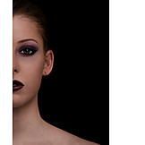 Beauty, Make Up, Half Face