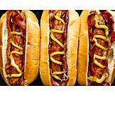Mustard, Sausage, Bacon