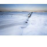 Coast, Winter, Snow, Groyne