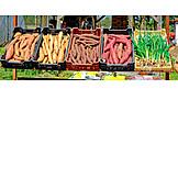 Weekly market, Yam, Vegetable market, Market stall