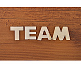Team, Wooden Letters