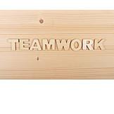 Teamwork, Wooden Letters