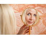 Portrait, Mirror Image, Vanity Mirror