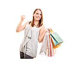 Shopping, Excited, Buying, Customer, Shopping Bags