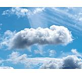 Sky, Sunbeams, Clouds