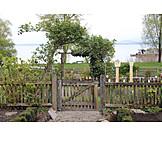 Garten, Gartenzaun, Landhausstil
