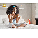 Woman, On The Phone, Pregnancy Test