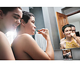 Home, Brushing Teeth, Relationship, Homogamous