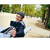Laughing, Smart Phone, Self Portrait, Selfie