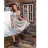 Young woman, Fashion, Dirndl