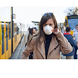 Public Transport, Respirator Mask, Infection Protection