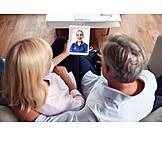 Zuhause, Ehepaar, Sprechstunde, Videosprechstunde