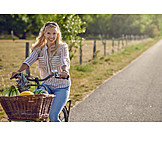 Shopping, Bicycle, Cyclist