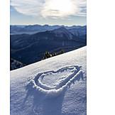Snow, Heart, European Alps