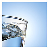 Wasser, Glas