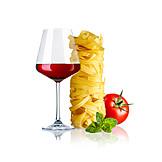 Red Wine, Italian, Tagliatelle