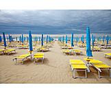Beach, Bad Weather, Lounge Chair