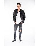 Fashion, Jeans, Leather Jacket
