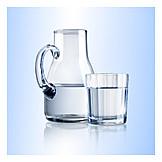 Mineralwasser, Wasserglas, Wasserkrug