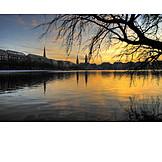 Sunrise, Hamburg, Alster