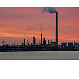 Industry, Power Station, Oil Refinery