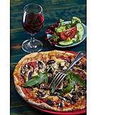 Vegetarian, Pizza