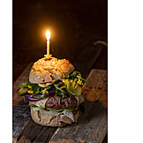 Birthday, Cheeseburger, Party Snack
