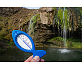 Thermometer, Water, Hot Source