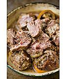 Fleisch, Schweinefleisch, Pulled Pork