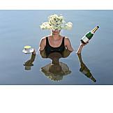 Lake, Beverage, Serve, Waitress