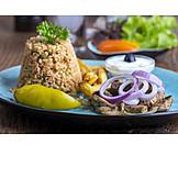 Abendessen, Fleischgericht, Gyros