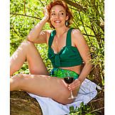 Woman, Wine Glass, Bikini