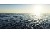 Sonnenlicht, Horizont, Ozean