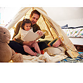 Father, Book, Daughter, Feel Safe, Storytelling
