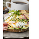 Frühstück, Amerikanische Küche, Eier Benedict