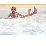Mädchen, Meer, Baden, Strandurlaub